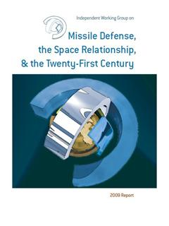 Missile Defense, the Space Relationship, and the Twenty-first Century